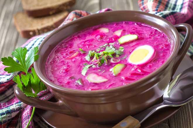 Литовский суп с редисом