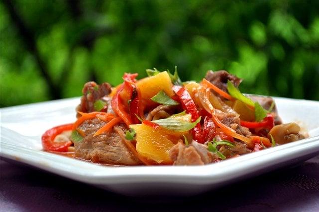 Рецепт индейки с курагой