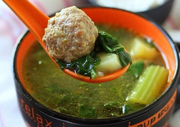 Словацкий суп со шпинатом
