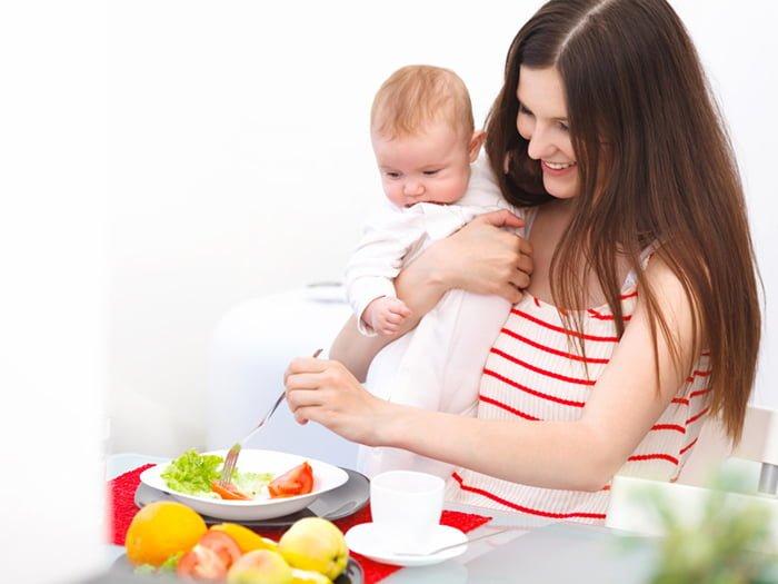 как быстро еда попадает в грудное молоко