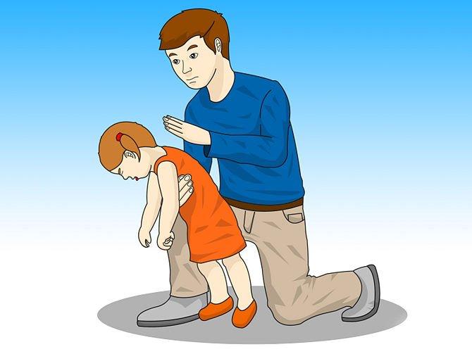 Ребенок подавился первая помощь