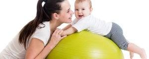 упражнения на фитболе с грудничком