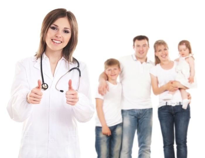 прием у врача всей семьей