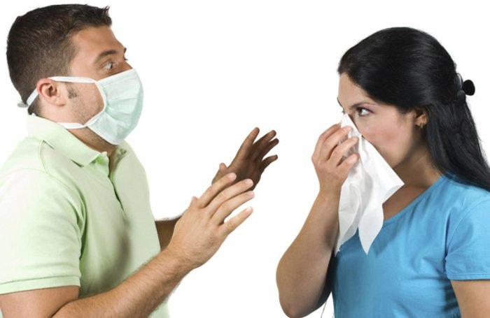 контакт с больным гриппом