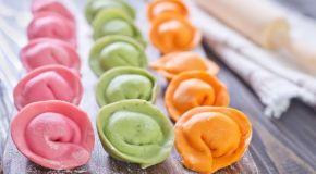 цветные пельмени для детей