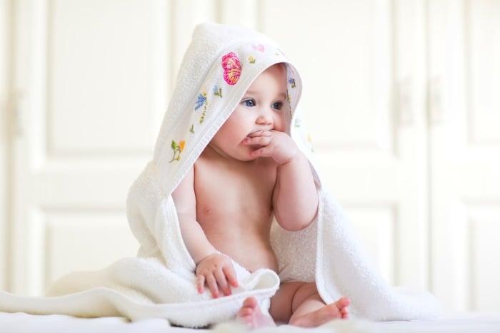 полотенце с капюшоном для новорожденного
