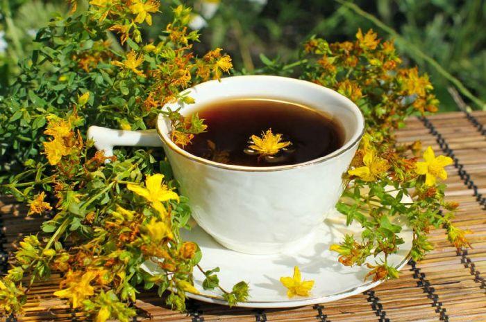 чай из зверобоя при лактации