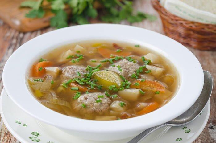суп с фрикадельками для ребенка