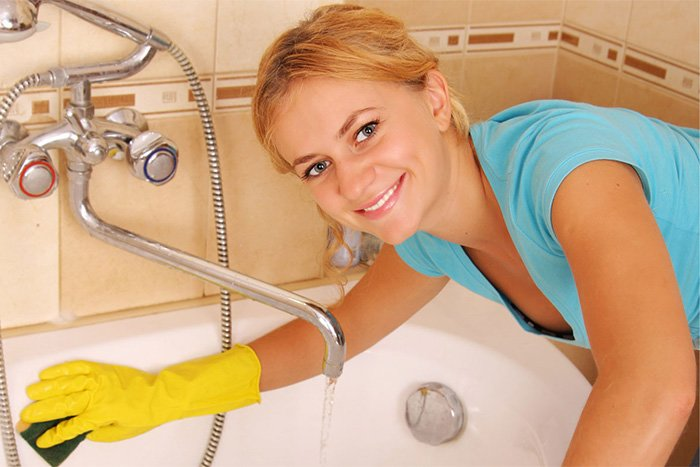 чистка ванные перед купанием младенца