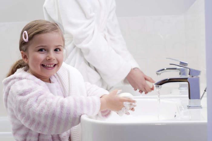 гигиена рук ребенка