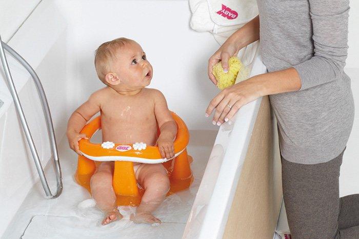 губка для купания новорожденного