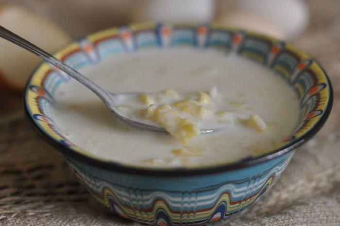 молочный суп с клецками для детей