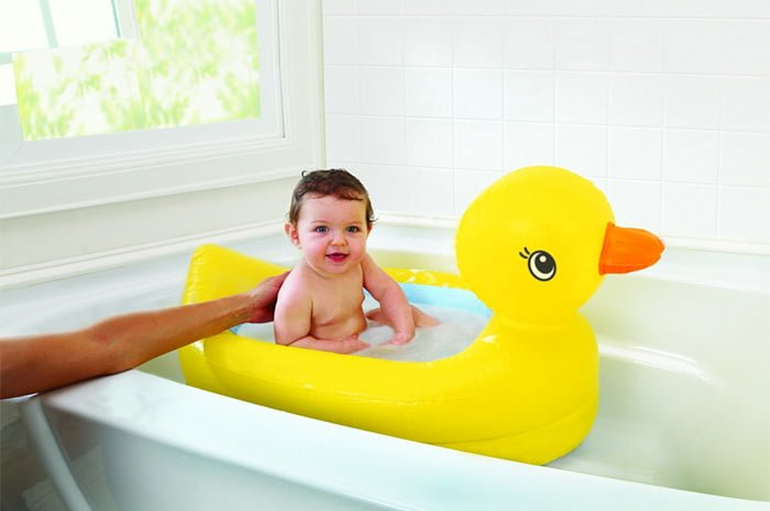 надувная ванночка для новорожденного