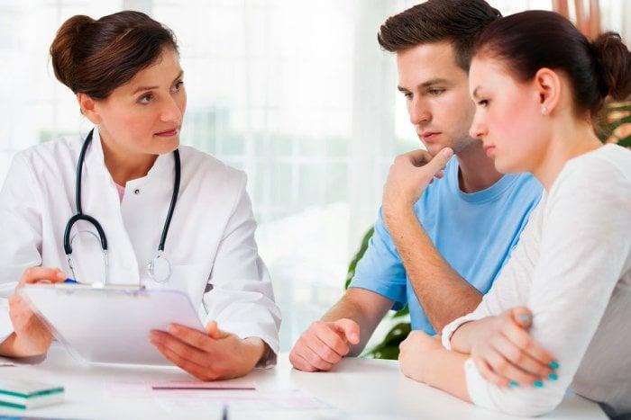 родители у врача