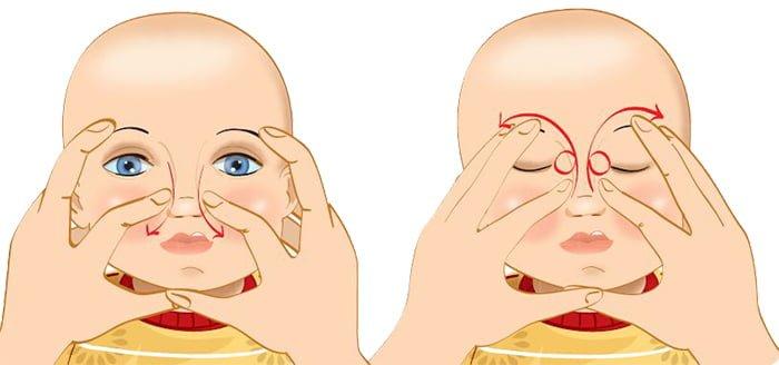 техника массажа глаз новорожденного