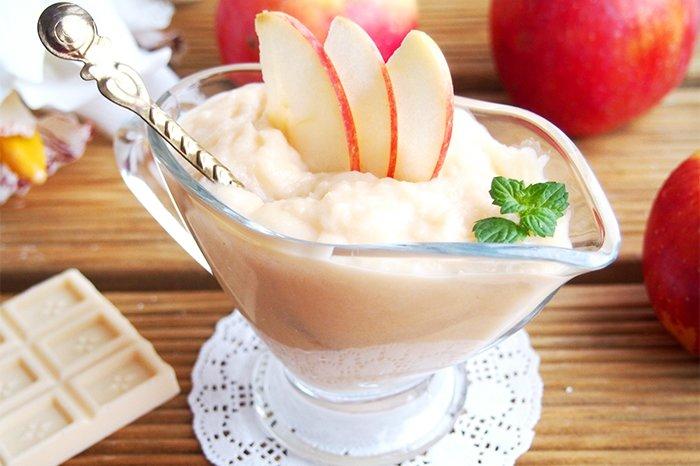 творожно-яблочный десерт для грудничка