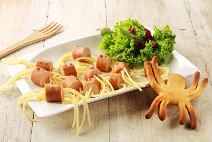 сосиски в макаронах для детей