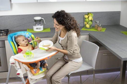 металлический стульчик для кормления