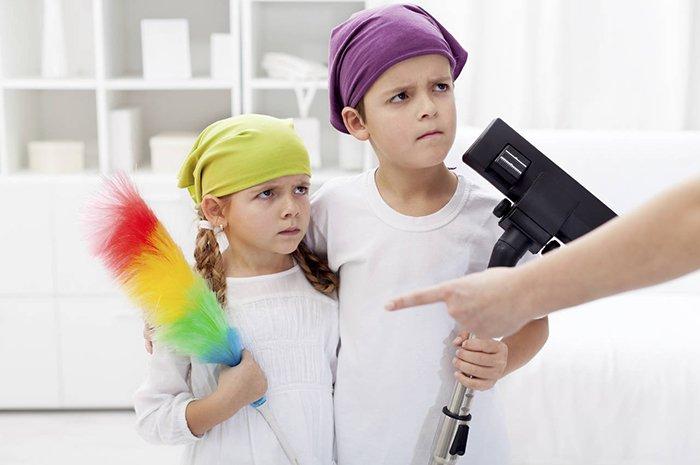 дети не хотят убираться по дому