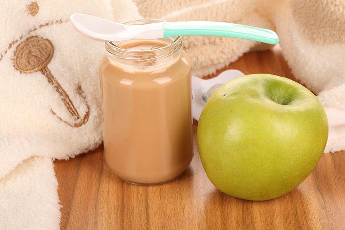 яблочное пюре в прикорм