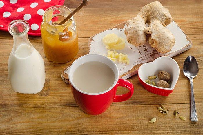 чай с имбирем от боли в горле
