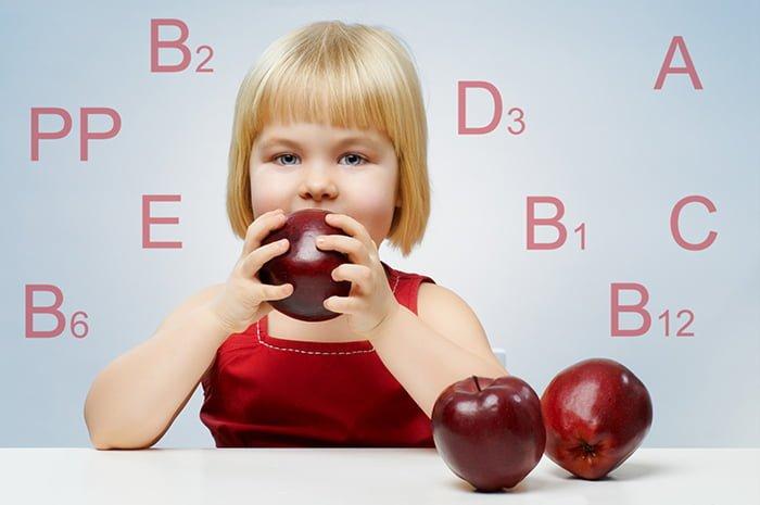 витамины в красных яблоках