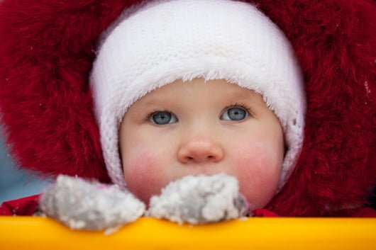 красные щеки у ребенка