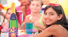 детский праздник с детским шампанским