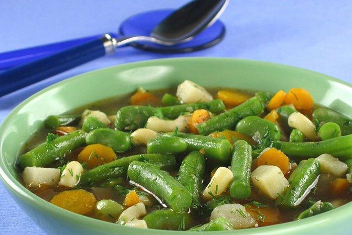 овощной суп с фасолью для детей