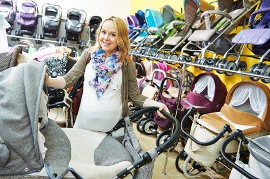 покупка коляски для новорожденного