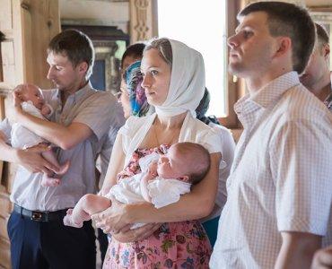 крещение малышей