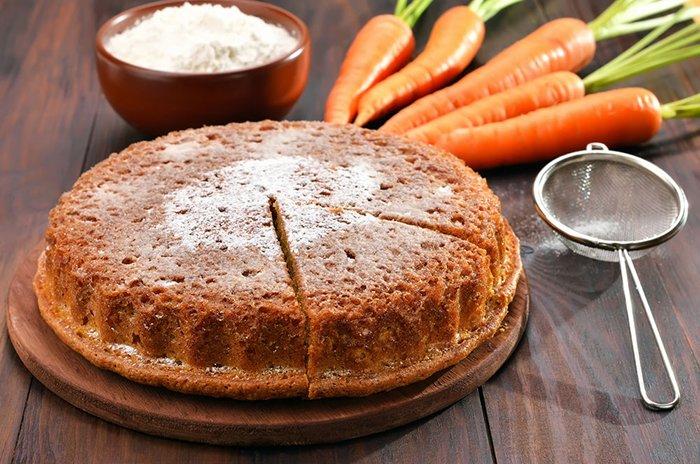 постный пирог из моркови для детей