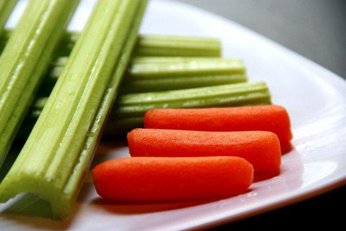 морковь и сельдерей