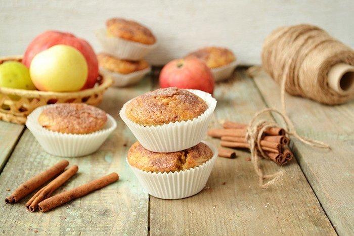 постный кекс с яблоками для детей
