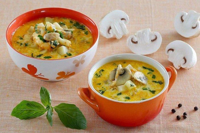 сливочный суп с шампиньонами