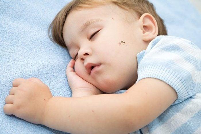 Помощь ребенку при укусе комара