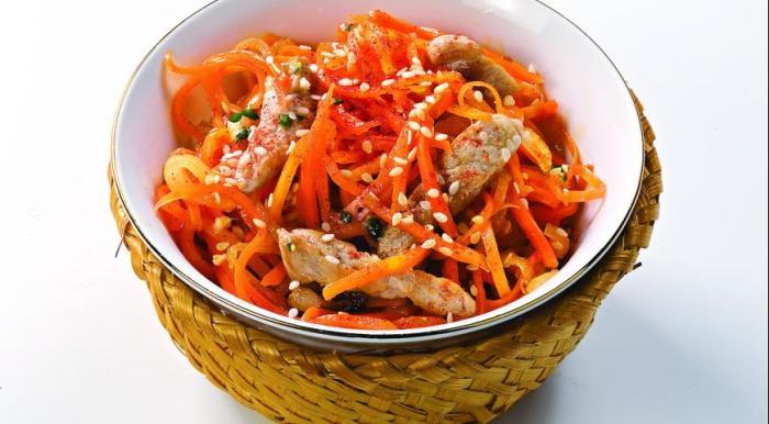 Рецепты салатов с морковью для детей