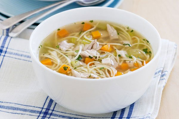 Куриный суп с вермишелью для детей