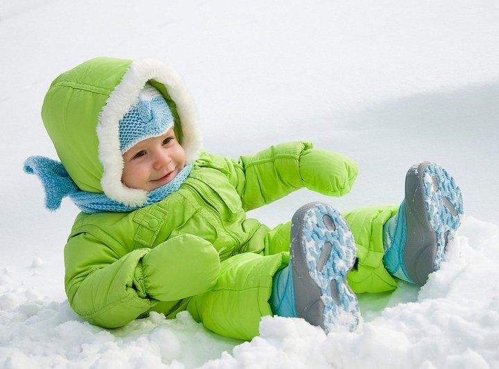 Прогулка зимой с новорожденным