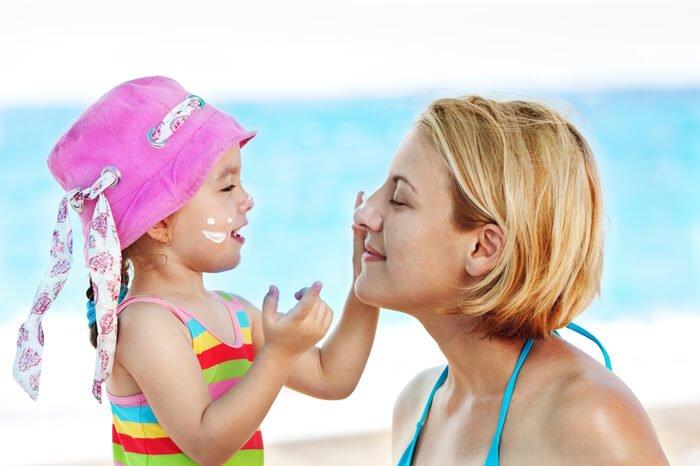 Солнцезащитные средства для новорожденных