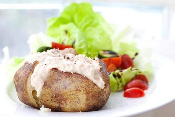 картофель с творогом