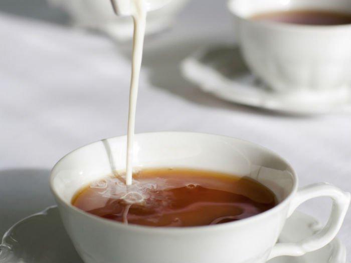 чай с добавлением сливок