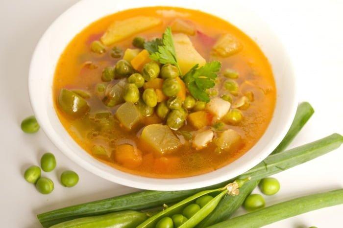 суп с зеленым горохом для кормящих мам