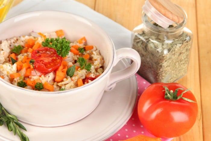 вегетарианский плов с овощами при грудном вскармливании