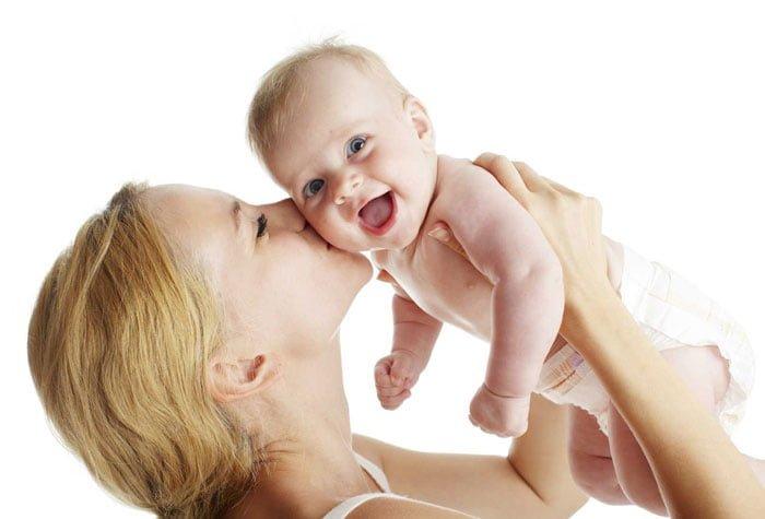 здоровые мама и малыш