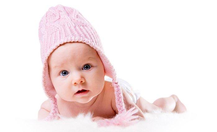 теплая шапочка на зиму для грудничка