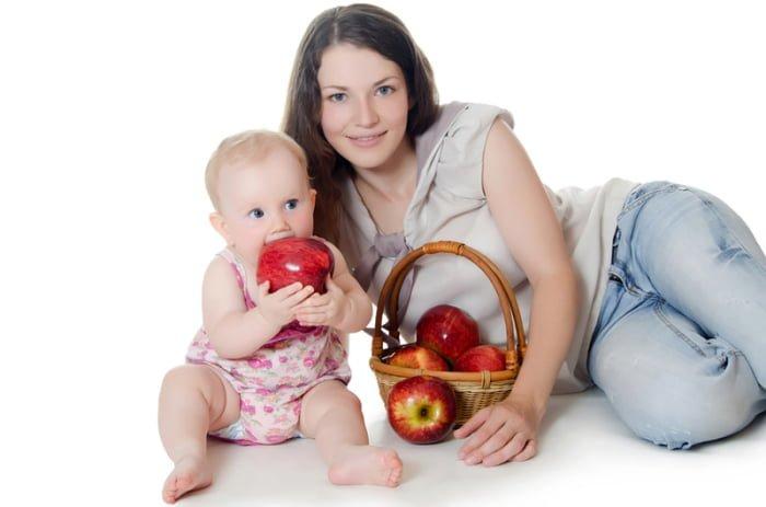 польза яблок для грудничка