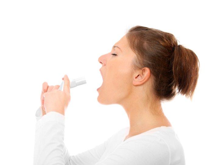 введение аэрозоли в рот