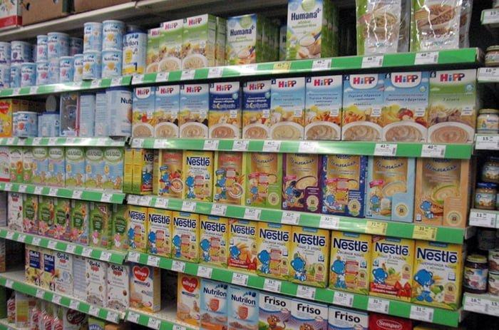 выбор молочных каш
