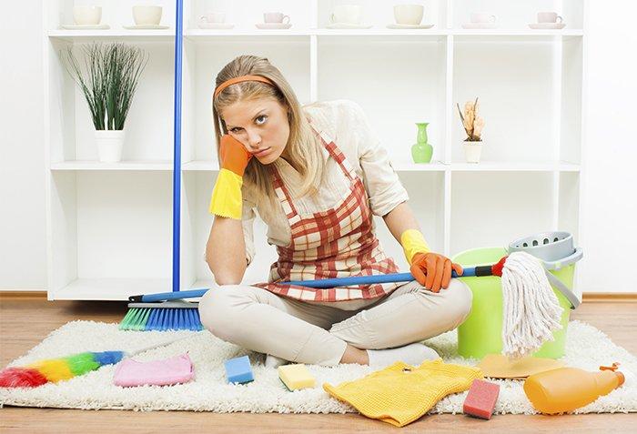 уставшая домохозяйка